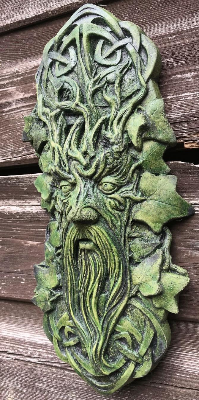 Celtic Green Man Plaque
